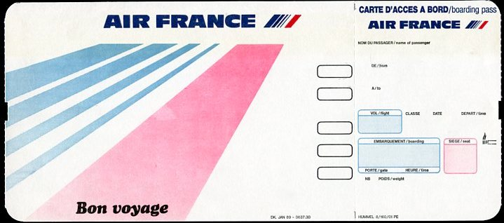 Air France Boarding Pass
