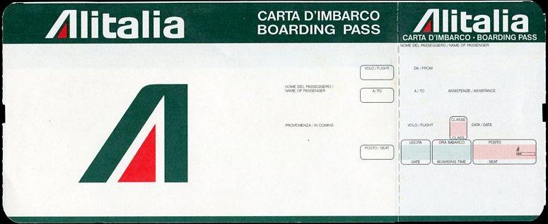 Alitalia Boarding Pass