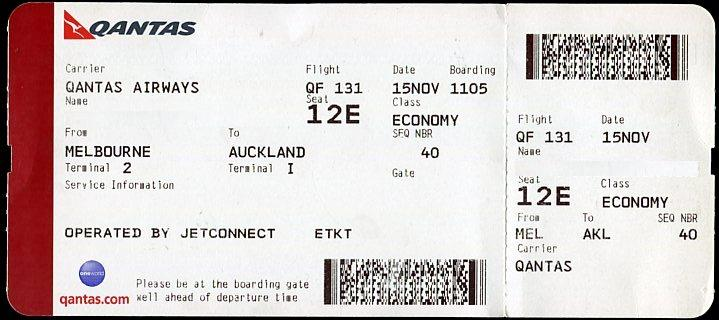 Qantas Airways Boarding Pass